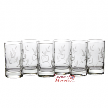 Moroccan Tea Glasses  Beautiful Clear Etched Design Pack of 6